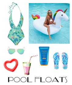 """Untitled #261"" by gothicwriter ❤ liked on Polyvore featuring Mara Hoffman, Lilly Pulitzer, Shiseido and poolfloats"
