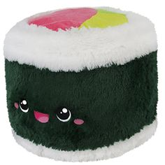 Comfort Food Sushi Roll Comfort Food Sushi Roll: An Adorable Fuzzy Plush to Snurfle and Squeeze! Food Pillows, Cute Pillows, Kawaii Plush, Cute Plush, Food Plushies, Sushi Style, Cuddle Love, Big Animals, Clay Animals
