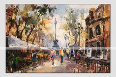 peinture à l'huile de paysage moderne, matériel de toile avec cadre étiré prêt à accrocher taille: 60 * 90cm. de 3603048 2016 à €35.27