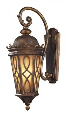 Outdoor Wall Lighting - ELK Lighting 3 LIGHT WALL BRACKET IN HAZLENUT BRONZE AND 42002/3