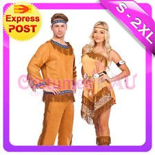 Warrior native american indian wild west halloween fancy dress costume