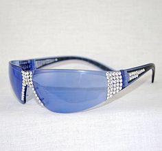 "Enchanting Jewelry Creations - ""Bling custom embellished Swarovski Crystal Wrap Around Sunglasses w/Purple Haze Lens. ($40.00) (http://stores.enchantingjewelrycreations.com/blingswarovski-crystal-wrap-around-sunglasses-w-purple-haze-lens/)"