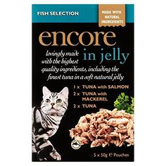Encore Fish Selection Cat Pouch in Jelly 5 x 50g (PACK OF 2) *** Find out more about the great product at the image link. (This is an affiliate link and I receive a commission for the sales)