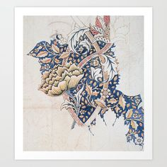 Design for Windrush by William Morris 1883 // Romanticism Blue Red Yellow Color Filled Floral Design Art Print by Public Artogra Design Art, Floral Design, Graphic Design, Canvas Prints, Art Prints, Romanticism, Diy Frame, William Morris, Vibrant Colors