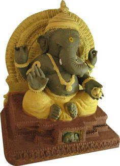 Eco friendly Ganapati Ganesh Chaturthi Decoration, Ganesh Chaturthi Images, Happy Ganesh Chaturthi, Ganesh Statue, Shri Ganesh, Durga, Clay Ganesha, Ganesha Art, Ganesh Images