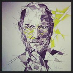 """Shattered"" Drawings by Katia - Steve Jobs - Markers and pencil"