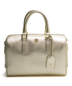 Look at this #zulilyfind! Gold Middy Leather Satchel #zulilyfinds