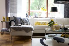 Monochromatic Paint Colors for Interior Design : Monochrome Living Room Paint Colors Layout Small Living Room Layout, Ikea Living Room, Paint Colors For Living Room, Living Spaces, Living Rooms, Home Decor Furniture, Home Furnishings, Table Sofa, Home Interior