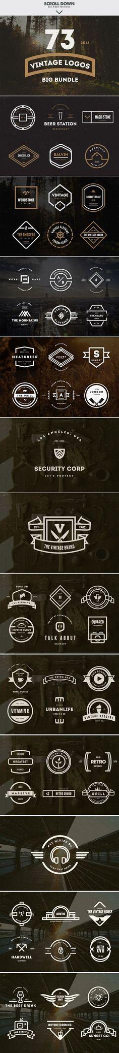 MASSIVE BUNDLE 576 Vintage Logos by DesignDistrict on Creative Market: