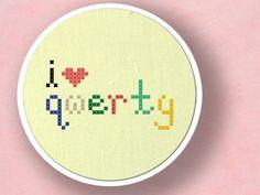 I love QWERTY Cross Stitch Pattern PDF File by andwabisabi on Etsy, $2.50