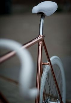 Copper and white wheels.