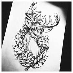 Understand The Background Of Stag Tattoo Outline Now App Drawings, Tattoo Sketches, Tattoo Drawings, Tattoo Outline Drawing, Deer Drawing, Hirsch Tattoo Old School, Cervo Tattoo, Hirsch Tattoos, Stag Tattoo
