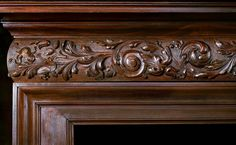Antique mahogany late victorian fireplace mantel Victorian Fireplace Mantels, Fireplace Mantle, Acanthus, Architectural Elements, Victorian Era, Antique Furniture, Home Art, Wood Crafts, Hand Carved