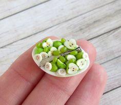SOON Apples, Bananas Dollhouse Handmade Miniature (polymer clay) #Handmade