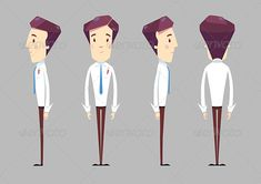 Employee Character — Photoshop PSD #worker #writer • Available here → https://graphicriver.net/item/employee-character/5120752?ref=pxcr