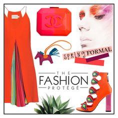 """Spring Formal"" by misskarolina ❤ liked on Polyvore featuring Mary Katrantzou, Kat Maconie, Hermès, Chanel, polyvoreeditorial and springformal"