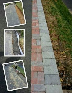 asphaly driveway paver edging- sorry no good link from pic