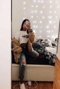 Kadence Marie ☆ 2019 outfits for the .- Kadence Marie ☆ 2019 outfits for school outfits school emo outfits - Trendy Fall Outfits, Cute Casual Outfits, Emo Outfits, Casual Dressy, Autumn Outfits, Fashionable Outfits, Casual Fall, Outfits For Concerts, Tumblr Fall Outfits