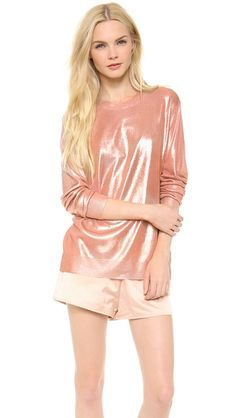 Palagi LM.PL1 (T by Alexander Wang Foil Printed Lightweight Pullover)