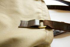 Realización de una lengüeta de cuero para sujetar asa de la bolsa - sewfearless.com