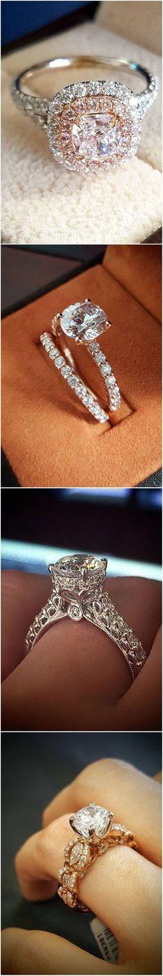 Stunning  #engagementrings @diamondmansion