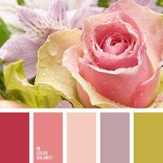 бежевый, бордово-кирпичный, бордово-розовый, гамма для свадьбы, зеленый, нежный зеленый, нежный розовый, оттенки розового, палитра для свадьбы, подбор цвета, фиолетовый, цвет зелени, цвет чайной розы.