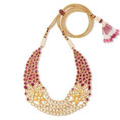 Ruby Splendor Cocktail Necklace Set | Devam Jewelry