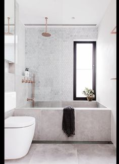 concrete bathtub and tile backsplash in modern sydney bathroom via inside out magazine. / sfgirlbybay concrete bathtub and tile backsplash in modern sydney bathroom via inside out magazine. Bad Inspiration, Bathroom Inspiration, Interior Design Inspiration, Design Ideas, Design Design, Design Trends, Interior Design Simple, Design Loft, Interior Colors