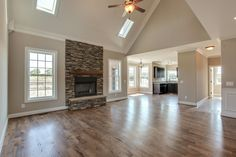 Great open floor plan in our homes