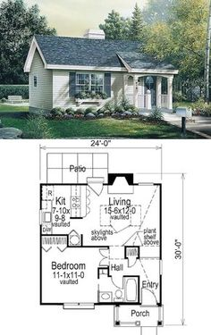 Summer Spot tiny house floor plan for building your dream home without spending a fortune. Your tiny house doesn't have to be ugly or weird - just look at these architectural masterpieces! Tiny House Cabin, Tiny House Living, Tiny House Design, Small House Plans, Tiny Home Floor Plans, House Design Plans, Tiny Guest House, Square House Plans, Guest House Plans