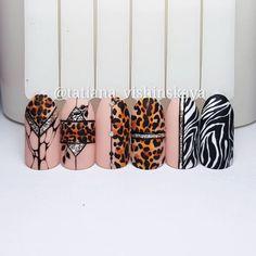 Winter Nails Designs - My Cool Nail Designs Tiger Nails, Leopard Nails, Glam Nails, Beauty Nails, Nail Art Modele, Uñas Color Neon, Korea Nail, Sculpted Gel Nails, Nailart