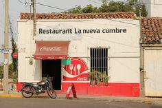 Corner restaurant Mazatlan.