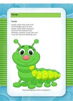 Versje: Rupsje Chenille, Caterpillar, Back To School, Butterfly, Letters, Fruit, Illustration, Fictional Characters, Butterflies