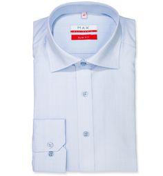 Slim Fit priliehavá košeľa Bledomodrá jednofarebná 100% bavlna Popelín (plátno)