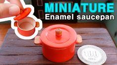 미니어쳐 법랑냄비 만들기 miniature - Enamel saucepan