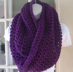 Merlot purple infinity cowl scarf neckwarmer by MatsonDesignStudio, $40.00