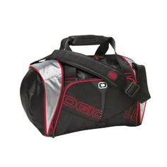 c61d1a897c Small Ogio Duffle Bag Two handles and a shoulder strap screen printed  designs one zip up main compartment and side zip pocket