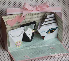 KreativStanz Stempelset Blühende Worte und Thinlits Blütenpoesie von Stampin' Up! Verpackung Doppelte Explosionbox Hochzeit #stampinup #wedding http://kreativstanz.bastelblogs.de/