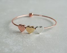 Check out our silver gold rose gold heart bracelet selection for the very best in unique or custom, handmade pieces from our shops. Gold Heart Bracelet, Slave Bracelet, Women Jewelry, Fashion Jewelry, Gold Anklet, Best Friend Jewelry, Best Jewelry Stores, Simple Jewelry, Sister Gifts