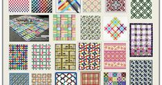 """Here are 50 free patterns for lattice, basket weave, interlocking and """"plaid"""" quilts! Lattice quilts are made with strips that form a grid o. Twin Quilt Pattern, Bed Quilt Patterns, Jelly Roll Quilt Patterns, Pattern Blocks, Skirt Patterns, Blouse Patterns, Sewing Patterns, Strip Quilts, Easy Quilts"""