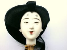 Japanese Doll Head D82 Hina Matsuri Girl Doll by VintageFromJapan