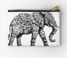 Redbubble elephant makeup bag Mandala Elephant, Makeup Bags, Unique, Design, Sewing Makeup Bag, Design Comics