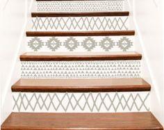 Decorative Vinyl Stair Decals . Trellis Decor Steps Riser