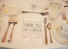table setting - wedding