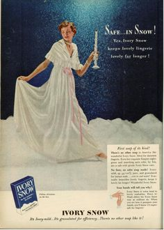 Finnfemme: Vintage 1949 Ivory Snow Soap Ad