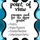 Common Core Point of View Resources! This 40+ page pdf  is a very rigorous pack of resources for teaching point of view and how it affects a story.  This is not your basic 1st or 3rd person point of view packet (though this aspect is included). It contains very rigorous and challenging stories that require the students to consider the point of view and how it affects the events being described. The stories were written specifically to meet the rigor of the new Common Core standards.