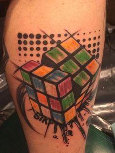 My Rubik's cube tattoo (DaYan cube)