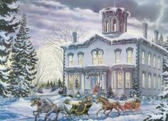 Christmas at Kilbride 275 Piece Easy Handling Jigsaw Puzzle.  Makes a great gift for senior citizens!