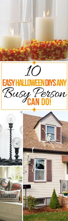 These 10 Halloween decor ideas are THE BEST! I'm so happy I found these AMAZING Halloween DIY ideas and projects! Now my home will look so cool! Definitely pinning!