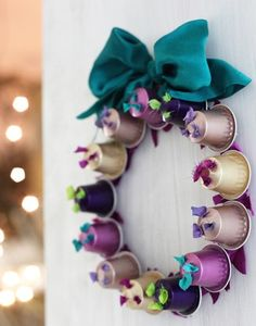 DIY Nespresso Cup Wreath